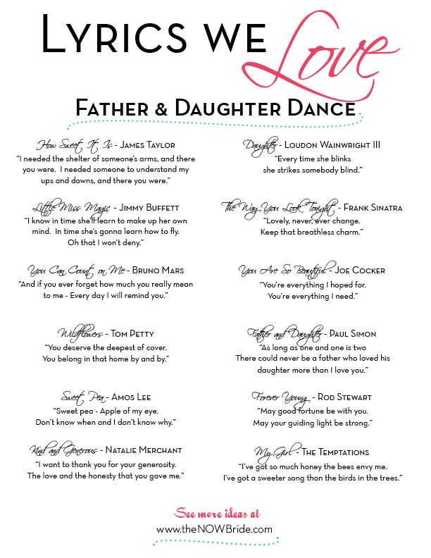 Popular father daughter songs
