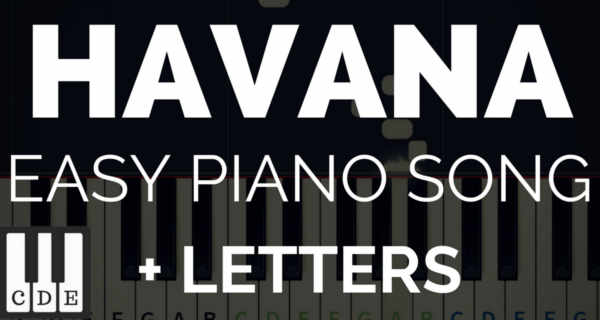 Popular songs piano letter notes